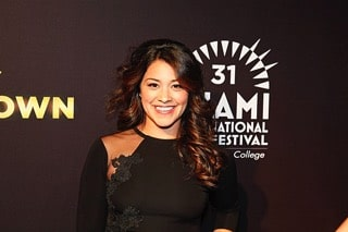 Gina Rodriguez at Filly Brown Miami premiere