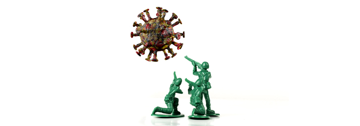 Plastic Army Men Fighting The Coronavirus